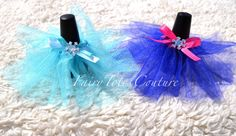 Frozen Inspired Nail Polish Tutu Covers or by FairyTotesCouture