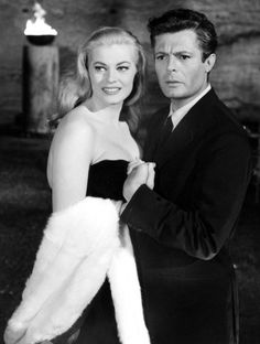 Anita Ekberg And Marcello Mastroianni In La Dolce Vita (1960)