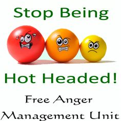 Free anger management unit with printable workbook. #angermanagement