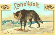 vintage wolf and sheep cigar box - Google Search