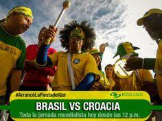 Vea hoy por Gol Caracol el primer partido del Mundial: Brasil vs. Croacia #ArrancóLaFiestadelGol   Los dirigidos por Luiz Felipe Scolari se estrenarán a las 3:00 pm frente al difícil elenco croata, que sufrirá la baja de Mario Mandzukic. http://www.golcaracol.com/copa-mundial-de-la-fifa-brasil-2014/vea-hoy-gol-caracol-primer-partido-del-mundial-12567-nota