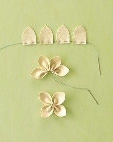 Una forma sencilla de hacer flores.
