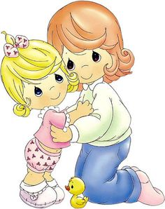 Such precious moments. Precious Moments Coloring Pages, Precious Moments Quotes, Precious Moments Figurines, Cute Images, Cute Pictures, Image Deco, Holly Hobbie, Digi Stamps, Colouring Pages