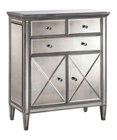 Look at this #zulilyfind! Mirror Pierce Modern Hollywood Glamour-Style Cabinet by Baxton Studio #zulilyfinds