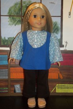1970's Bib Inset Blouse by GomunkCreations on Etsy, $8.00