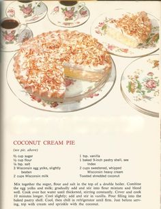 Vintage Recipes: 1964 Pies and Pastries Cookbook Recipes, Baking Recipes, Cookie Recipes, Pie Recipes, Homemade Cookbook, Retro Recipes, Vintage Recipes, Vintage Food Posters, Recipes