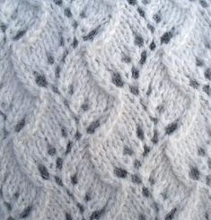 Click for full-screen display Lace Knitting Stitches, Knitting Charts, Knitting Patterns, Vides, Baby Supplies, How To Purl Knit, Stitch Patterns, Weaving, Brooklyn Tweed