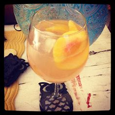 Applebee's White Peach Sangria - by the pitcher.