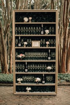 Southern Curls & Pearls // Perfect Champagne wedding wall bookcase