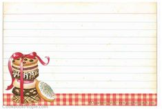 FREE PRINTABLE GOOSEBERRY PATCH RECIPE CARDS AT COOKBOOKPEOPLE.COM