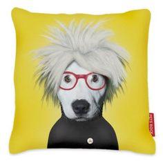 Found it at Wayfair - Pets Rock Soup Throw Pillow Yellow Throw Pillows, Modern Throw Pillows, Throw Pillow Cases, Decorative Throw Pillows, Accent Pillows, Toss Pillows, Funky Cushions, Dog Cushions, Hipster Dog