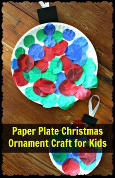 Paper Plate Christmas Ornament Craft for Kids – Mama Bees Freebies