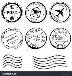 stock-vector-vector-set-of-black-postal-stamps-mail-post-office-air-mail-russian-post-american-post-new-283415276.jpg (1500×1600)