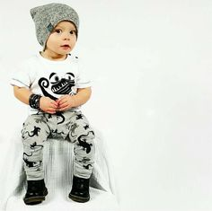 2016 kids boys summer style infant baby boy clothes set baby boy clothing sets cotton little monsters 2pcs baby girl clothes set