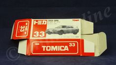 TOMICA 033F TOYOTA SUPRA MK4 | 1/60 | ORIGINAL BOX ONLY | 1994 CHINA | FIRST