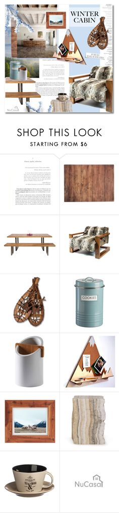 """Winter cabin"" by undici ❤ liked on Polyvore featuring interior, interiors, interior design, home, home decor, interior decorating, Typhoon, Sentient, Abbott and Urban Outfitters"