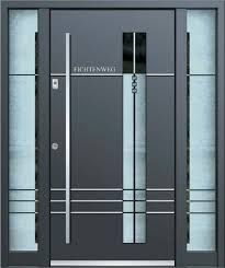 Aluminum Schüco front door + 1 side panel - anthracite gray RAL 7016 ...