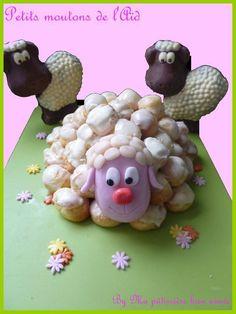 Gâteau mouton avec des choux
