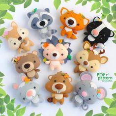 Hedgehog PDF pattern Felt woodland animal plush toy sewing | Etsy