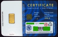 All about 1 gram Gold Bars Gold Bullion Bars, Bullion Coins, Card Sizes, Authenticity, Number, Cards, Stuff To Buy, Certificate, Maps