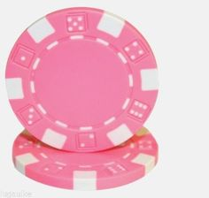 Lot of 25 #PINK Striped Dice 11.5 gram #Poker Chips Low/Free Shipping Options