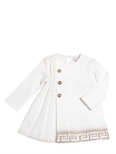 MICRO STUDDED COTTON MILANO KNIT DRESS
