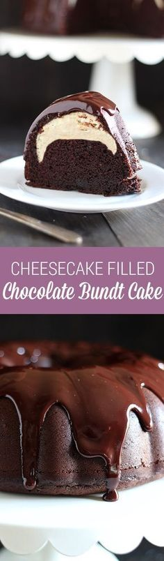 Who could beat this Cheesecake Filled Chocolate Bundt Cake with its rich yet tender chocolate cake, surprise cheesecake filling, and thick fudgy glaze? This recipe is YUM.