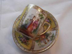 Dresden (Germany) Demi cup and saucer By Franziska Hirsch- circa 1901-1930-  DSC