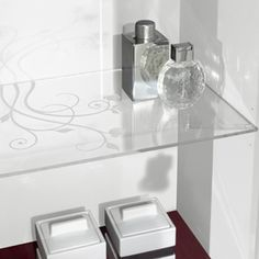 #Handpainted La Belle bathroom furniture in white or #framboise & with #chrome or #champagne fittings | Villeroy & Boch