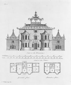 The Chinese and Gothic Architecture... Being Twenty New Plans and Elevations, On Twelve Copper-Plates