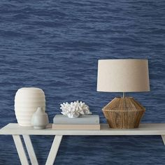 Serene Sea Peel and Stick Wallpaper by @NextWall. $39.99. Deep blue or stormy grey. Artistic. Not meant to be photographic quality. #removablewallpaper #coastaldecor #DIY #waterwallpaper #oceanwallpaper #BuyAmericanMade #homedecorideas #homedecorating Removable Wallpaper, Coastal Decor, Table Lamp, Wallpaper, Peel And Stick Wallpaper, Home Decor, Serene Sea, Ocean Wallpaper, Water Walls