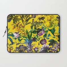 Check out society6curated.com for more! @society6 #floral #flowers #pattern #laptop #computer #case #sleeve #electronic #accessory #accessories #fashion #style #student #college #gift #idea #fun #unique #art #artsy #design #cool #awesome #yellow #green