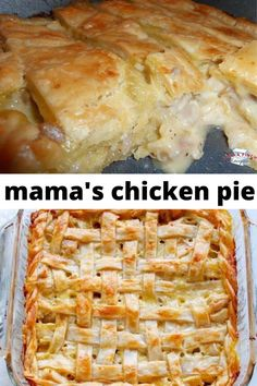 Mama's Chicken Pie is an easy weeknight family meal that even the pickiest of eaters will love! Easy Pie Recipes, Easy Chicken Dinner Recipes, Chicken Wing Recipes, Fish Recipes, Cooking Recipes, Recipe For Chicken Pie, Weeknight Recipes, Chicken Rice, Meat Recipes
