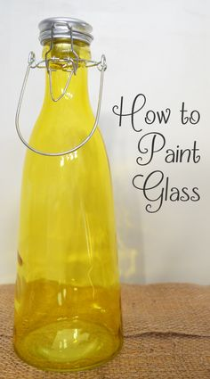 The best DIY projects & DIY ideas and tutorials: sewing, paper craft, DIY. Beauty Tip / DIY Face Masks 2017 / 2018 How to paint glass -Read Wine Bottle Crafts, Jar Crafts, Bottle Art, Home Crafts, Bottles And Jars, Glass Jars, Mason Jars, Sea Glass, Tips & Tricks