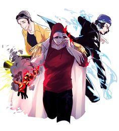 One Piece: Borsalino, Kuzan, and Sakazuki