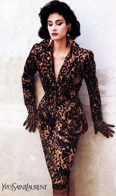 1986/87 - YSL couture leopard suit