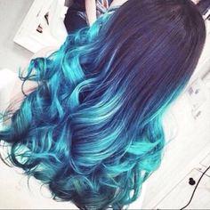 Black to light Blue
