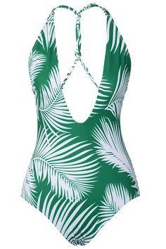 Cupshe White Jade Leaves One-piece Swimsuit