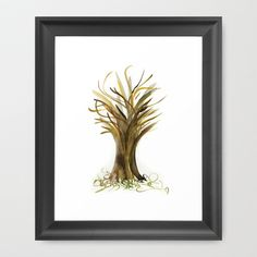 The Fortune Tree #1 Framed Art Print by Marina Kanavaki - $33.00