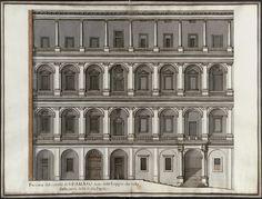 Bramante, Cortile di San Damaso w Pałacach Watykańskich
