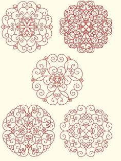 Redwork designs by Murphy