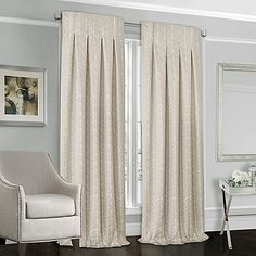 Designers' Select™ Peyton 63-Inch Back Tab Window Curtain Panel in Ivory