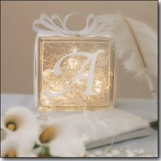 Glass block lights, use 20 or 35 count Craft lights to light up decorated glass blocks!