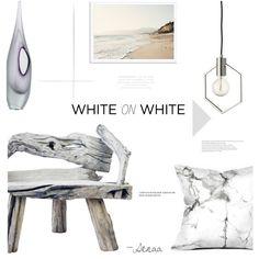 White on by senaa on Polyvore featuring interior, interiors, interior design, home, home decor, interior decorating, CB2 and Arteriors
