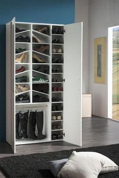 Girl, Modern Shoe Cabinet In White High Gloss Finish