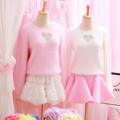 "Cute plush mohair knit sweater SE9030  Coupon code ""cutekawaii"" for 10% off"