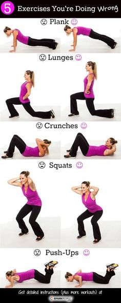 Jillian Michael's 20 minute workout from SHAPE magazine. 5 Exercises You're Doing Wrong 15 Minute Abs Workout The Workout legs Fitness Workouts, 7 Workout, Fitness Motivation, Sport Fitness, Body Fitness, Fun Workouts, Fitness Tips, Health Fitness, Daily Motivation