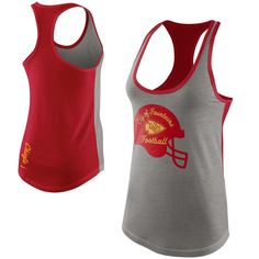 Kansas City Chiefs Nike Womens Tri-Blend Helmet Tank Top – Gray