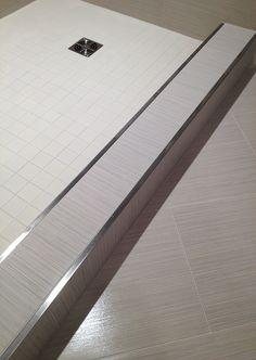 New Bath Room Shower Tile Trim Products Ideas Wood Bathroom, Small Bathroom, Schluter Tile Edge, Bathroom Tile Installation, Shower Curb, Shower Niche, Bath Shower, Tile Trim, Bathroom Interior Design