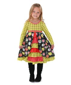 0d641e92f6a Jelly The Pug Candy Apple Hannah Knit Dress - Girls Size  2T